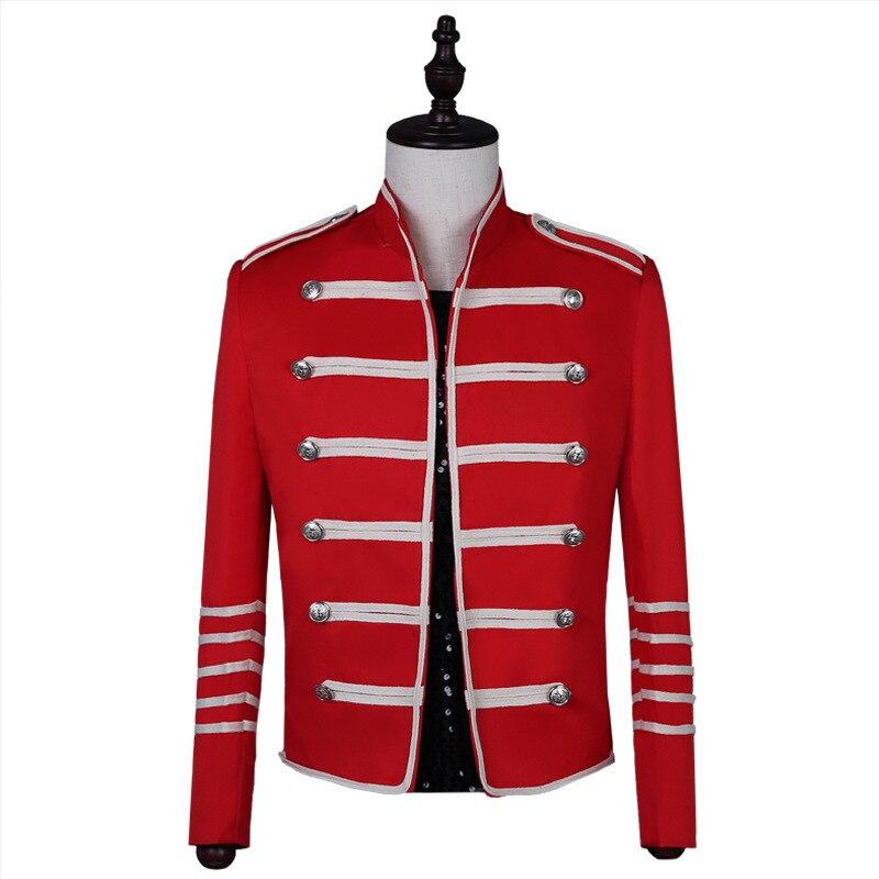 2019 Vintage solide hommes gothique veste Steampunk tunique Rock redingote uniforme mâle Vintage Punk Costume métal militaire manteau Outwear