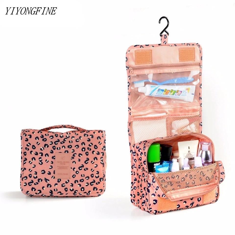 High Capacity Travel Bag Women Makeup Bag Toiletries Organizer Waterproof Storage Neceser Hanging Bathroom Wash Bag Grooming Kit
