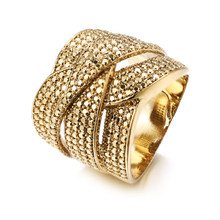 Bettyue Crystal Ring Micro Pave Rhinestone Iced Golden Rings Men HIP Hop Style Jewelry Drop Shipping In Stock(China)