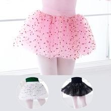 Girls Ballet Dance Puffy Skirts Sequin Fluffy Tutu Skirt Elastic Waist Tulle Short Dresses