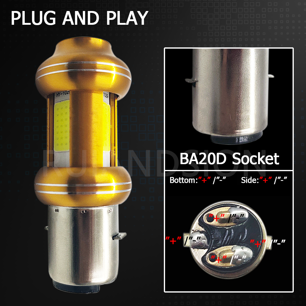 Комплект из 2 предметов 3 cob ba20d светодиодные лампы для фар