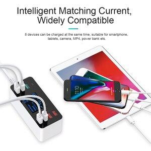 Image 2 - Зарядное устройство GOOJODOQ с 8 USB портами и светодиодным дисплеем, 3,0, 40 Вт