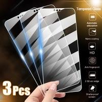 Protector de pantalla de vidrio templado para móvil, cubierta completa para Huawei P10, P20, P30 Lite, Honor 8, 9, 10, 20, 30 Pro, 9x, 9A, 9S, 3 uds.