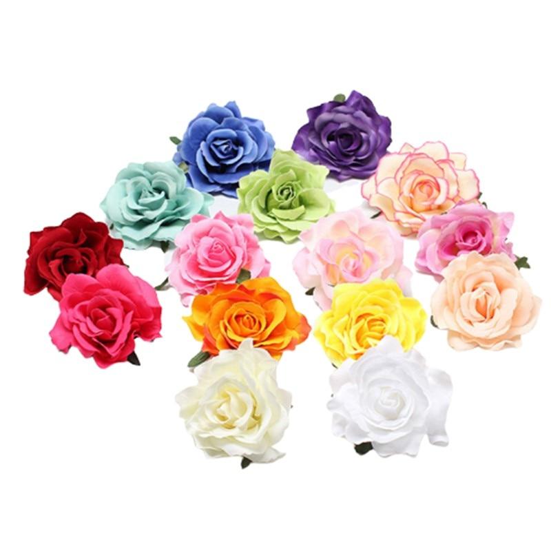 Hot Women Lady Girls  Bridal Rose Flower Hairpin Brooch Wedding Party Beach Accessories Hair Clip