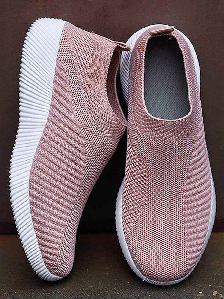 Women Sneakers Flats-Shoes Slip-On Plus-Size Walking High-Quality 42 Loafers