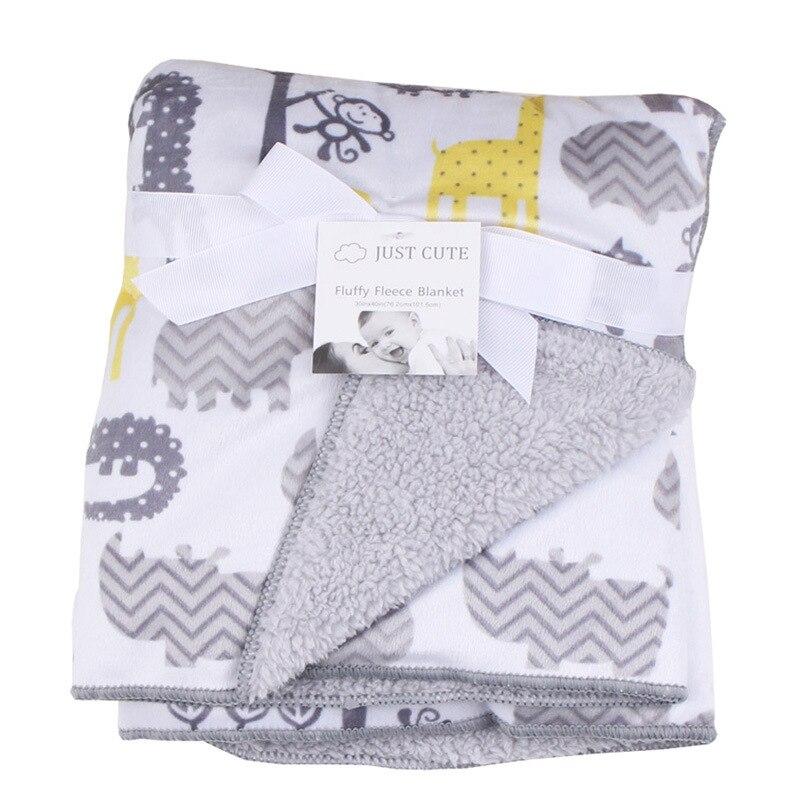 Infant Newborn Baby Blanket Winter Fluffy Fleece Kids Muslin Blanket Swaddle Stroller Fleece Blankets Kids Afternoon Nap Quilt