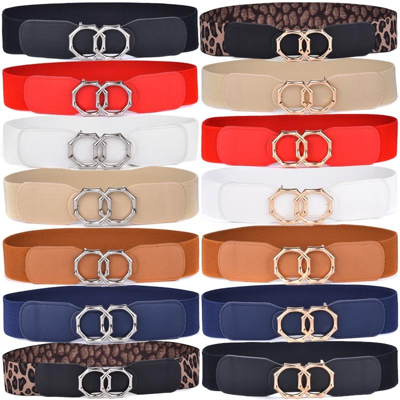 Womens Elastic Stretch Belts Skirt Down Jacket Belts For Ladies 14 Colors Clinch Belt Womon