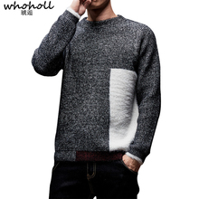 Thick Sweater Men 2019 Winter Wool Clothes Knitted Pullover Sweaters Male Loose Streetwear Fashion Warm Colorblock