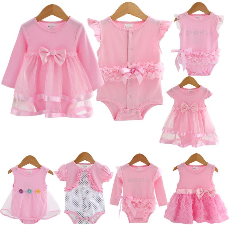 Body para bebê infantil meninas vestido de princesa roupas batismo do bebê vestido de festa de casamento 0-3 3-6 6-9 12 18 meses bodysuit