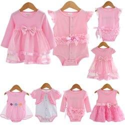 Baby body infant mädchen prinzessin kleid kleidung baby taufe taufe kleid party hochzeit 0-3 3-6 6-9 12 18 monate body