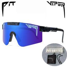 PIT VIPER marka oryginalne okulary przeciwsłoneczne UV400 moda okulary polaryzacyjne okulary przeciwsłoneczne Outdoor Mtb gogle z pudełkiem tanie tanio CN (pochodzenie) Goggle Adult Z poliwęglanu NONE 60 mm 147 mm