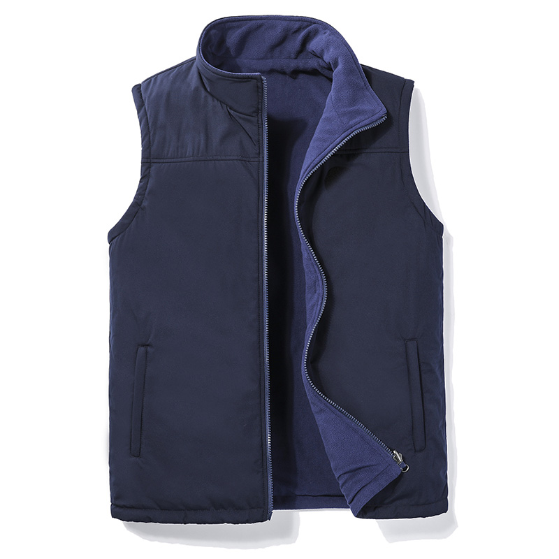 Vest Sleeveless Jacket Mens Autumn Spring 2020 Vest Men Soft Warm Waistcoat Fleece Jackets Male Big Size 5XL Outdoor Casual