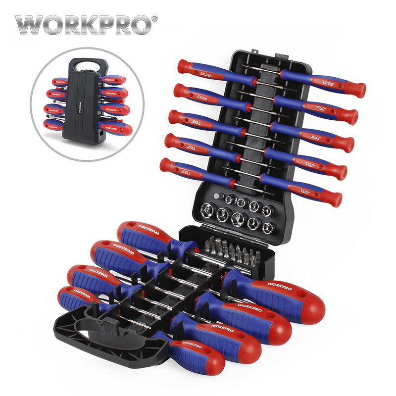 WORKPRO 45PC Screwdriver Set Precision Screwdrivers For Phone  With Bits Set