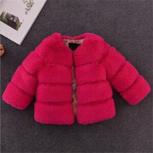 Image 5 - หญิงเสื้อขนสัตว์สำหรับเสื้อผ้าเด็กเสื้อ 2020 ใหม่เด็กเสื้อแจ็คเก็ตWarm Thicken Coatสีทึบเด็กFauxขนสัตว์outwear Coat