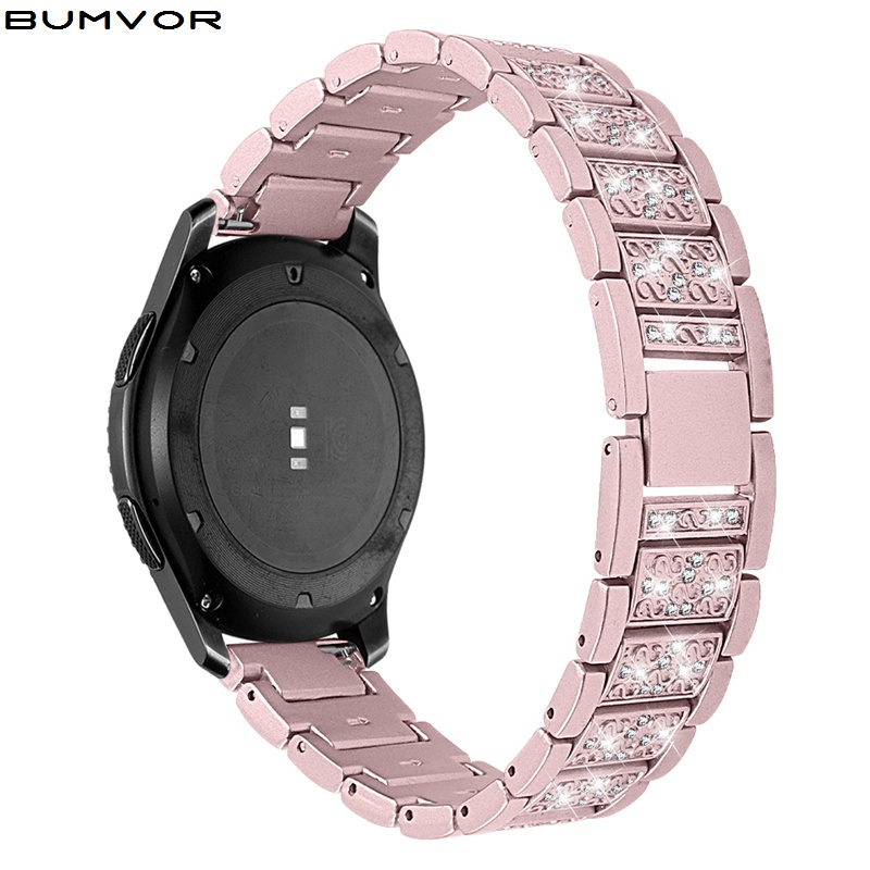 20mm 22mm Diamond Stainless Steel Bracelet <font><b>Strap</b></font> For Band for <font><b>Samsung</b></font> Galaxy Watch <font><b>46mm</b></font> SM-R800NZSAXAR 20mm Amazfit BIP <font><b>Strap</b></font> image