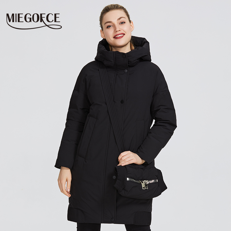 MIEGOFCE 2019 New Winter Women's Collection Women's Winter Jacket Coats Female Windproof Parka With Stand-Up Collar And Hood