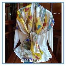 Kms китайский чистый шелк тутового шелкопряда шарф атласный