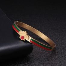 Charm Bangle Jewelry Bee-Cuff Mesh Bracelet Women Stainless-Steel Trendy Unique Luxury