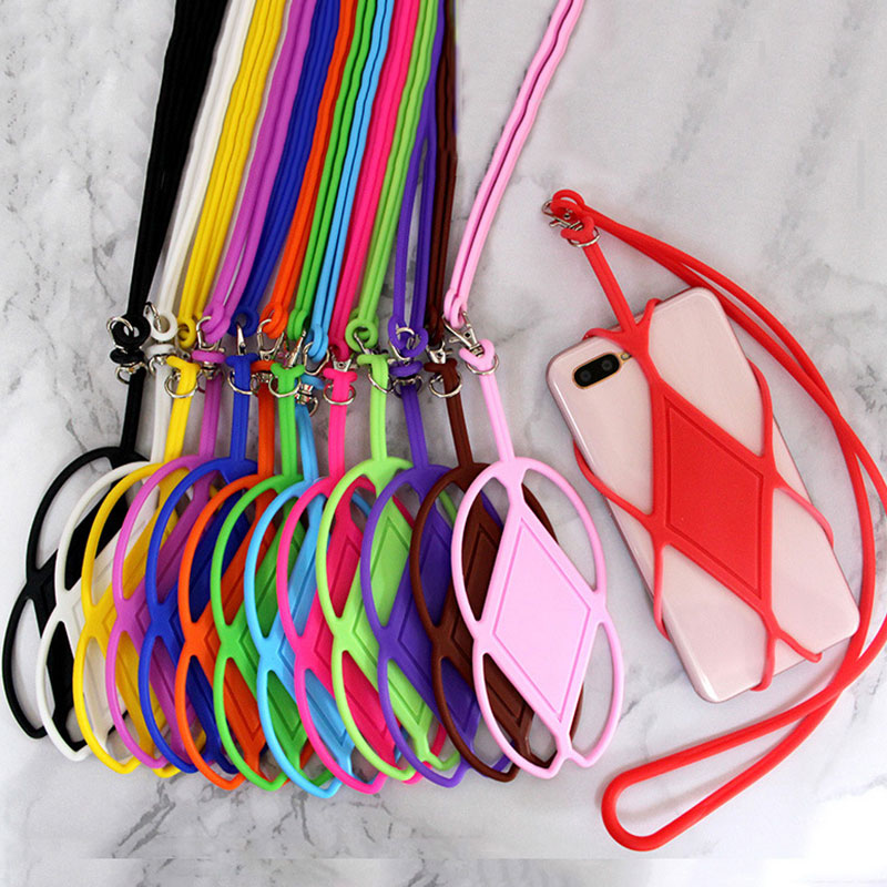 Universal Silicone Mobile Phone Strap Holder Phone Case Neck Strap Necklace Sling For Smartphone Mobile Phone Strap New *