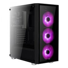 Aerocool Quartz RGB Case Middle Tower Full Tempered Glass Panel