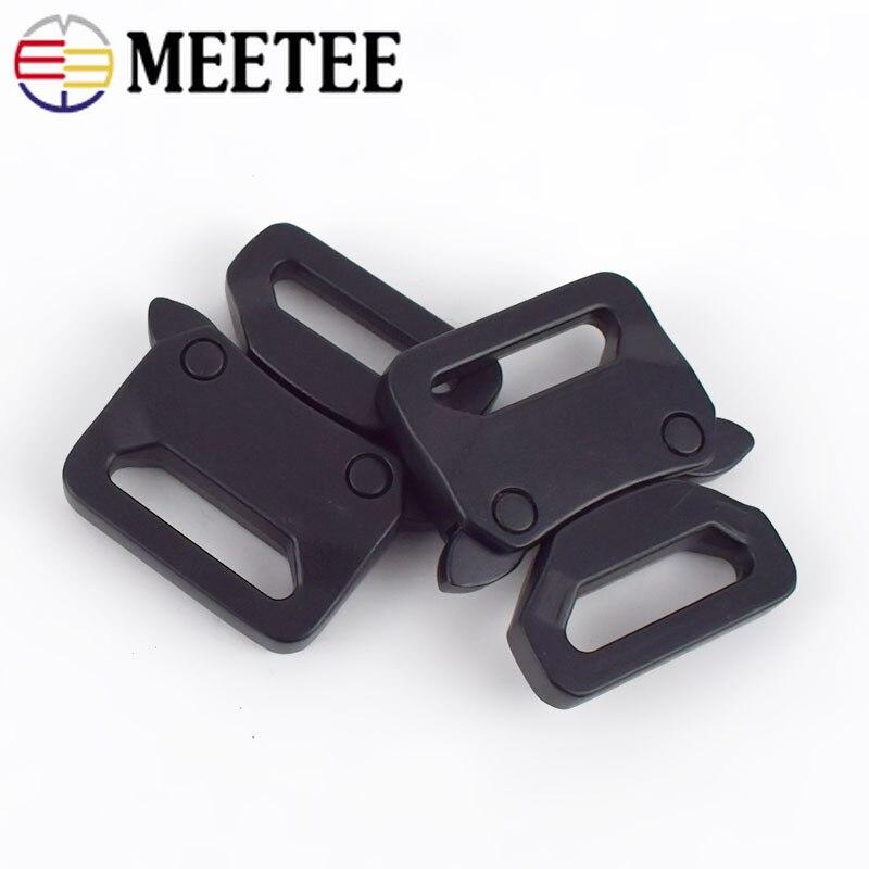 Meetee 2/5 sztuk ID20/25mm metalu automatyczne klamry zwalniające pas klamra regulacyjna DIY wielofunkcyjny pasek na zewnątrz zespół karabińczyk
