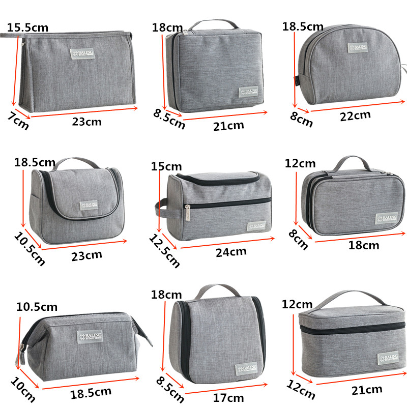 Men Women Cosmetic Bag Multifunction Toiletry Kit Make Up Organizer Beautician Makeup Cases Box Travel Necessarie Wash Storage