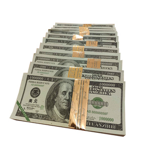 Joss Paper money coin burning paper sacrifice supplies ingot dollar tin foil party magic show paper false money for dead memory(China)
