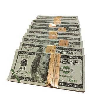 Joss papierowe pieniądze moneta spalanie papieru ofiara dostarcza wlewki dolar folia aluminiowa strona pokaz magii papier fałszywe pieniądze na martwą pamięć tanie i dobre opinie