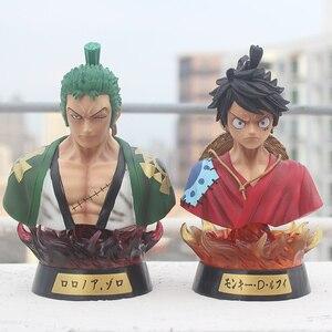 Anime One Piece Luffy Zoro Kimono Ver. Head bust Portrait GK Action Figure statue Collectible Model