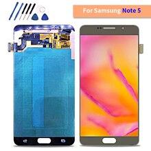 ЖК-дисплей для samsung Galaxy Note 5 N9200 N920F N920A N920T N920C N920V сенсорный экран дигитайзер в сборе Замена