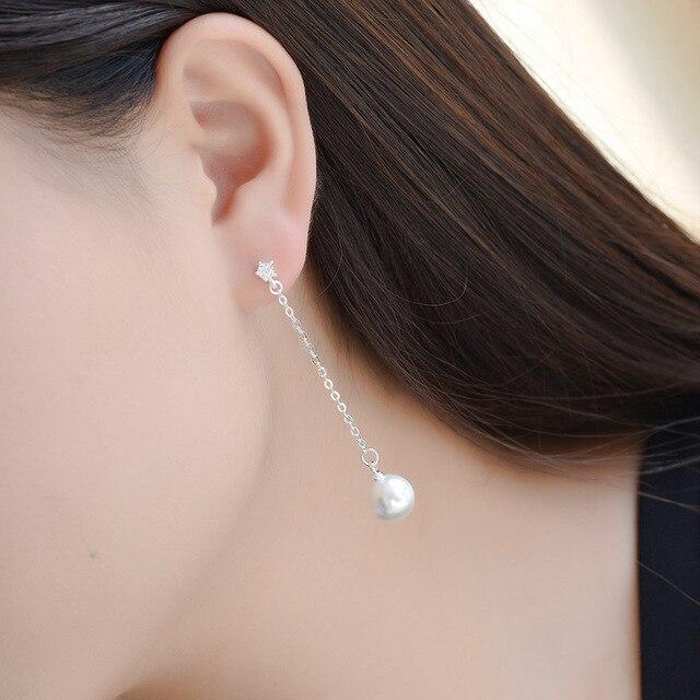 Фото женские серьги гвоздики из серебра 925 пробы с искусственным цена