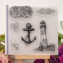 Anchor Nautical Global Map Lighthouse Transparent Clear Rubber Stamp Sheet Cling Scrapbooking Photo Album PaperCard DIY Craft(China)