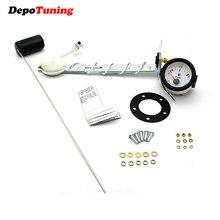 DePoTuning 52 мм белый циферблат Универсальный Автомобильный указатель уровня топлива с/без поплавка датчик топлива E-1/2-F указатель