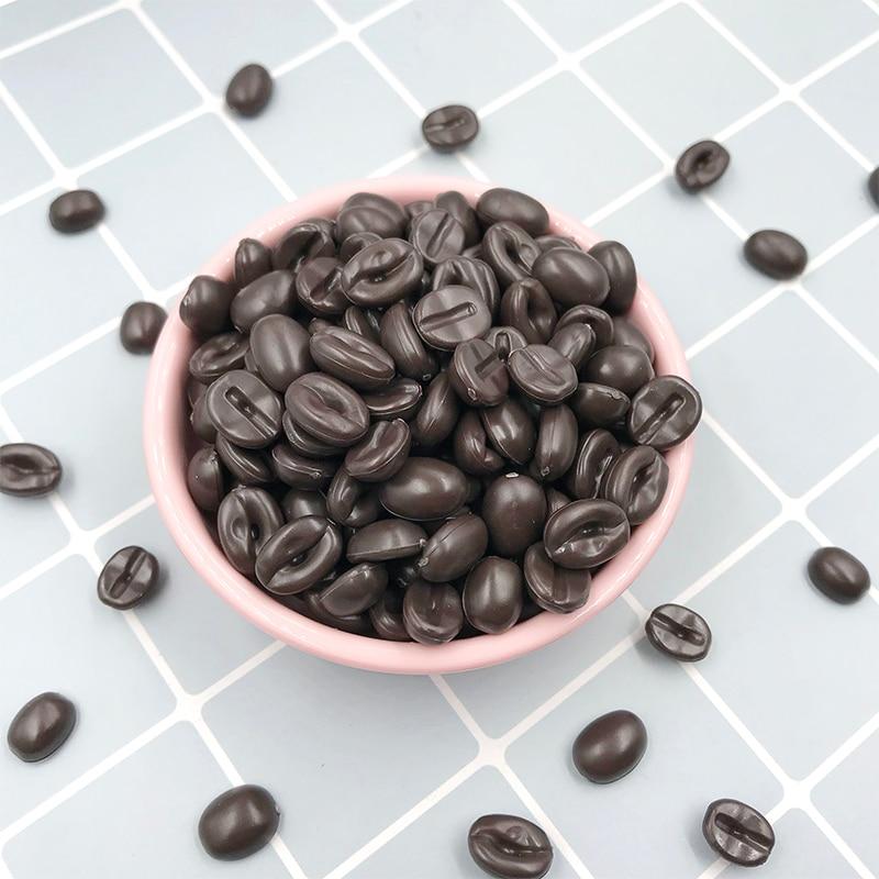 NEW COFFEE COCOA BEAN FLATBACKS SCRAPBOOKING JEWELLERY FREE P/&P YOU GET 10