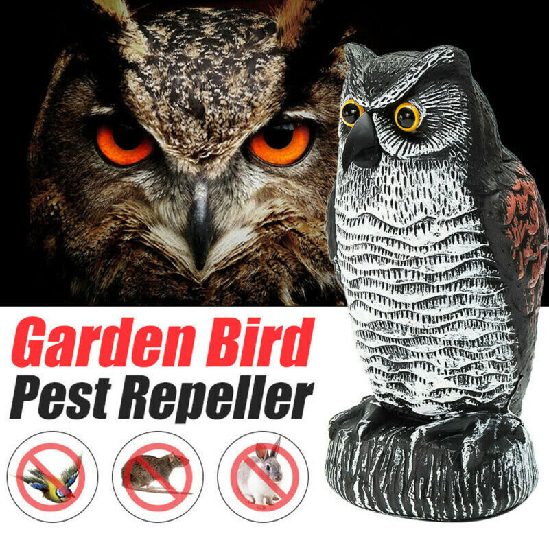 1pc Realistic Fake Falcon Owl Hawk Hunting Decoy Pest Deterrent Scarer Repeller Bird Scare Garden