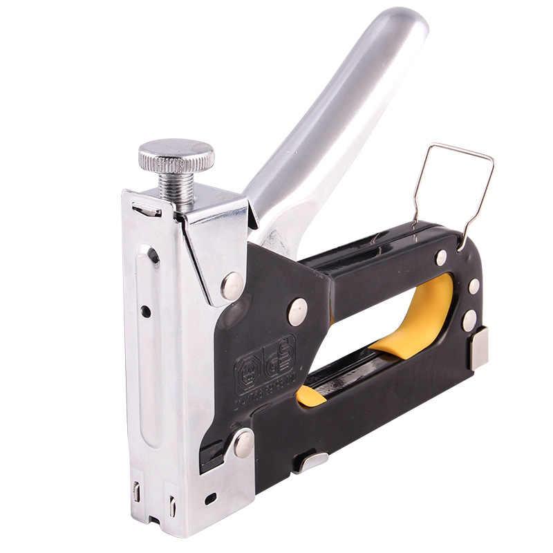 Multitool paznokci pistolet zszywacz zszywacz tapicerski do drewniane drzwi tapicerka fritowania zestaw z pistoletem do nitów gwoździarki nit narzędzie biurowe