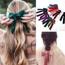 Ribbon/Velvet Elastic Hair Band Women Hair Accessories Girls Scrunchies Tie Gum Headband Rubber Rope Ponytail Hairband Headwear