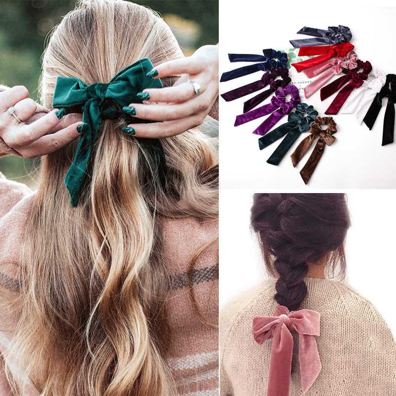 Femmes Coloré Cheveux Chouchous élastique cheveux bandes Queue de Cheval Cheveux Cravate Corde Cadeau