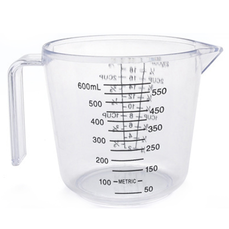 Big Deal Baking Tools Double-Sided Graduated Plastic Measuring Cup With Graduated Measuring Cup Measuring Cylinder 600Ml