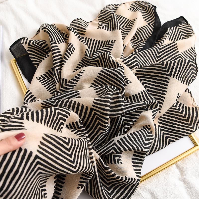 New Design Plaid Striped Patchwork Viscose Shawl Scarf High Quality Print Soft Head Wraps Pashmina Stole Muslim Hijab 180*90Cm