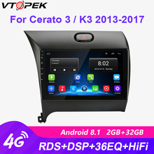 Vtopek Android Car Radio Multimedia Video Player Navigation GPS 2Din Player 4G+Wifi for Kia K3 Cerato Forte 2013-2017 3 YD Tuner klyde 8 quad core android car dvd multimedia player radio stereo 2gb ram 3g 4g wifi dab swc for kia k3 forte cerato 2013 2017