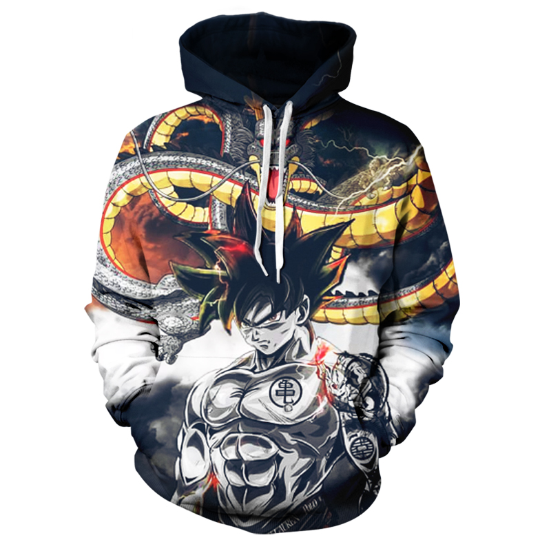 Promotional Men's Anime Dragon Ball Goku Hoodie Men's Women's Winter Sweatshirt 3D Printed Hooded Oversized Sweatshirt Hoodie