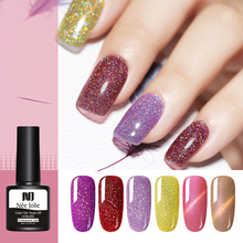NEE JOLIE 8ml Gel Nail Polish Red Colorful Series Purple Soak Off Art UV Varnish Lacque 12 Colors Available