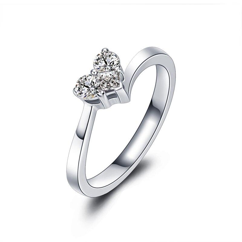 Bague diamant en or 18K bague diamant femme platine diamant côté princesse diamant nu platine véritable