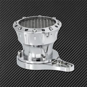 Image 3 - Motorrad CNC Geschwindigkeit Stapel Luft Reiniger Intake Filter Chrom Aluminium Passend Für Harley Sportster Eisen XL883 XL1200 Benutzerdefinierte