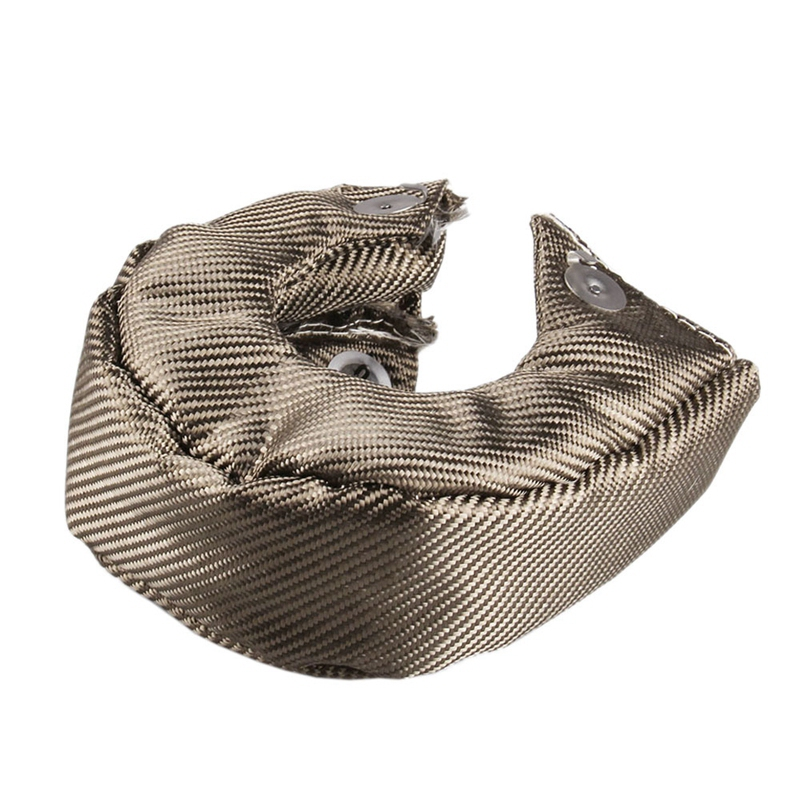 <font><b>T3</b></font> Titanium Lava Fiber <font><b>Turbo</b></font> <font><b>Blanket</b></font> Heat Shield Barrier Turbocharger Cover Wrap image