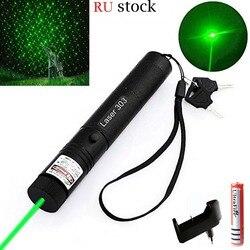 Wysoki potężny zielony wskaźnik laserowy 10000 m 5mw lasery sight Lazer pen nagrywanie mecz z laserami 303 w Lasery od Sport i rozrywka na