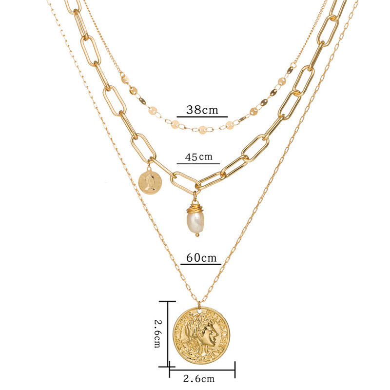 gold color chain necklace