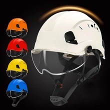 Safety-Helmet Hard-Hat Construction Working with Goggles High-Quality ABS for Climbing