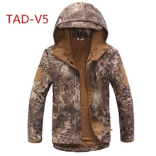 Tactical Jacket Softshell Waterproof  Windproof Jackets Army Camouflage Outdoor Sport Hiking Outerwear Clothing цена